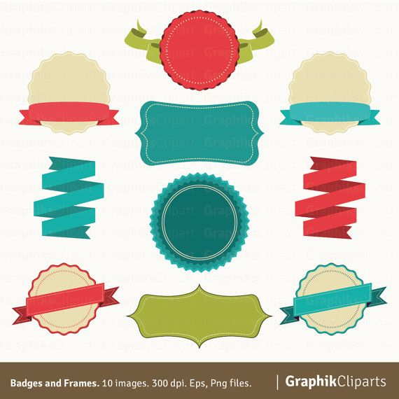 best ribbons banners. Badge clipart banner