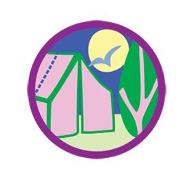 Girl scout badges . Badge clipart camping