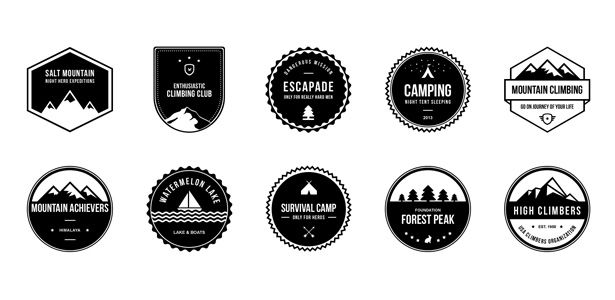 Badge clipart camping. Badges psd pack d