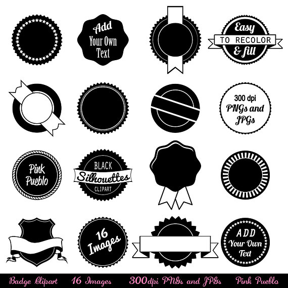 Use as stickers tags. Badge clipart clip art