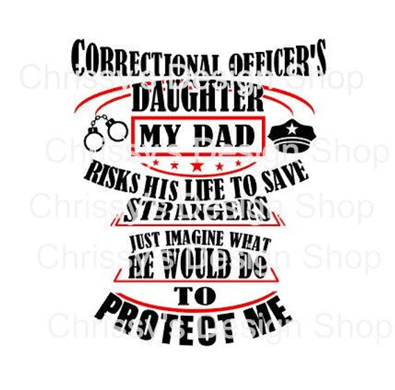 Badge clipart correctional officer. Officers daughter svg file