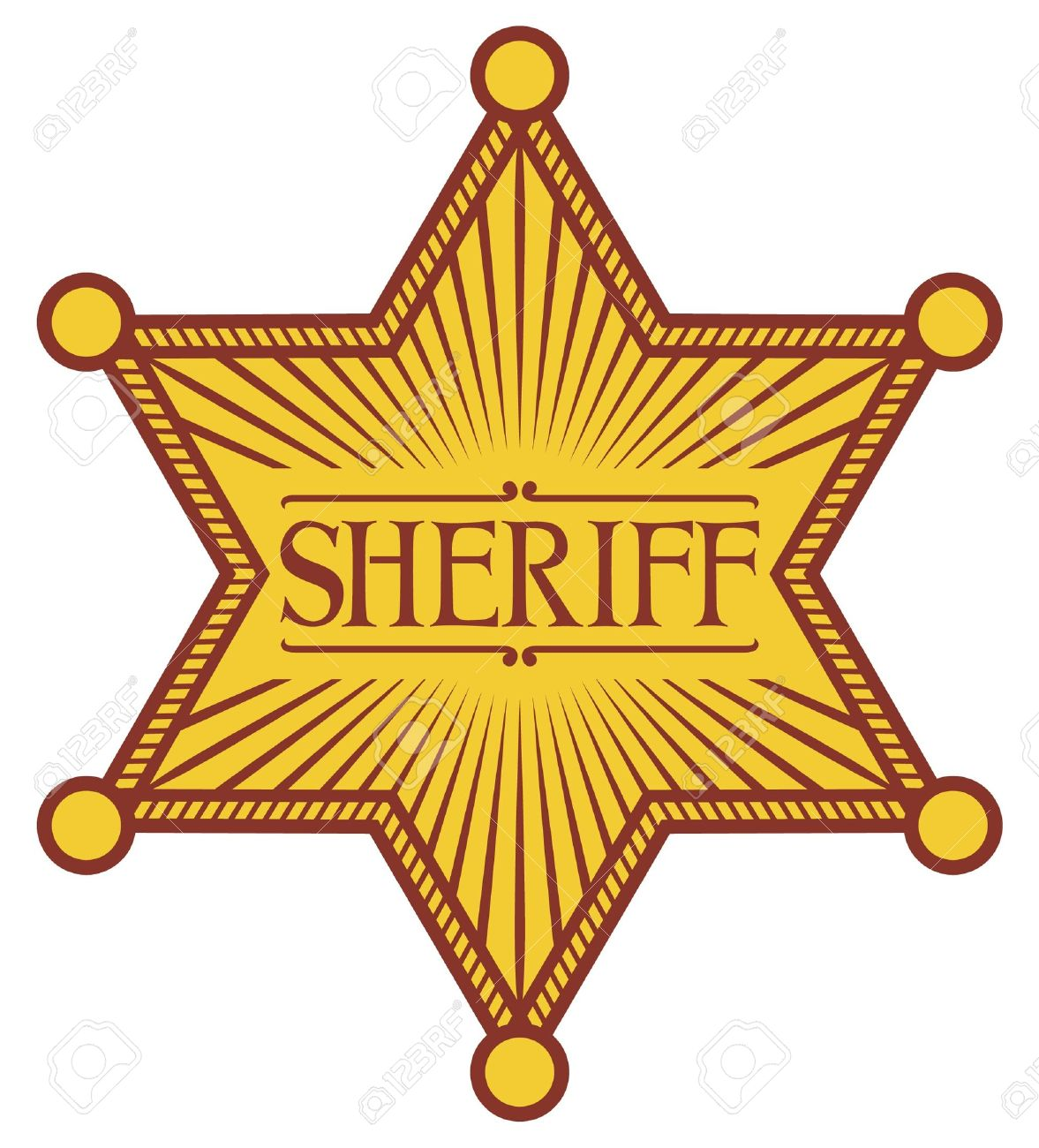 Hat sheriff star free. Badge clipart cowboy