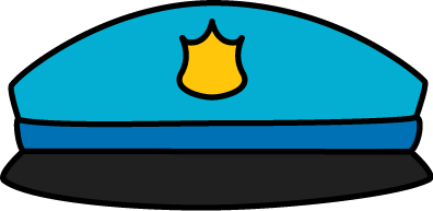 Badge hat . Hats clipart police