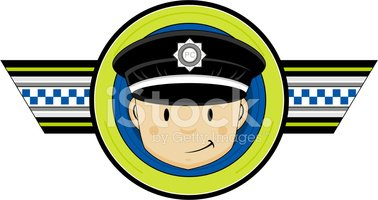 British police officer stock. Badge clipart cute