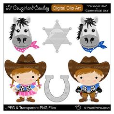 Badge clipart cute. Little cowboy digital clip