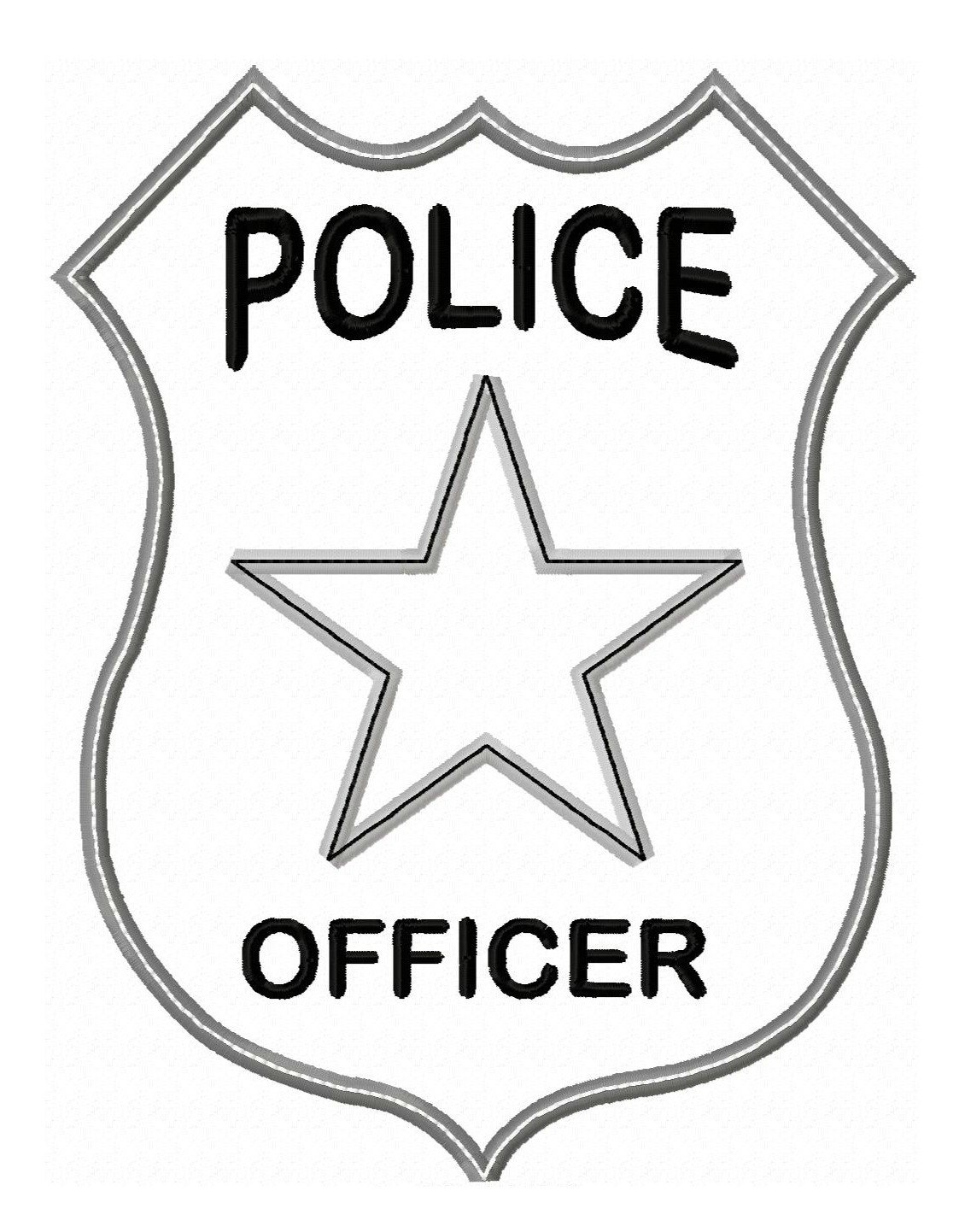 Badge clipart cute. Police free download clip