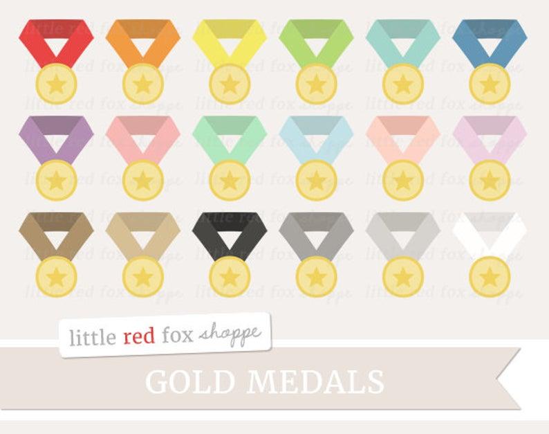 Badge clipart cute. Gold medal award clip