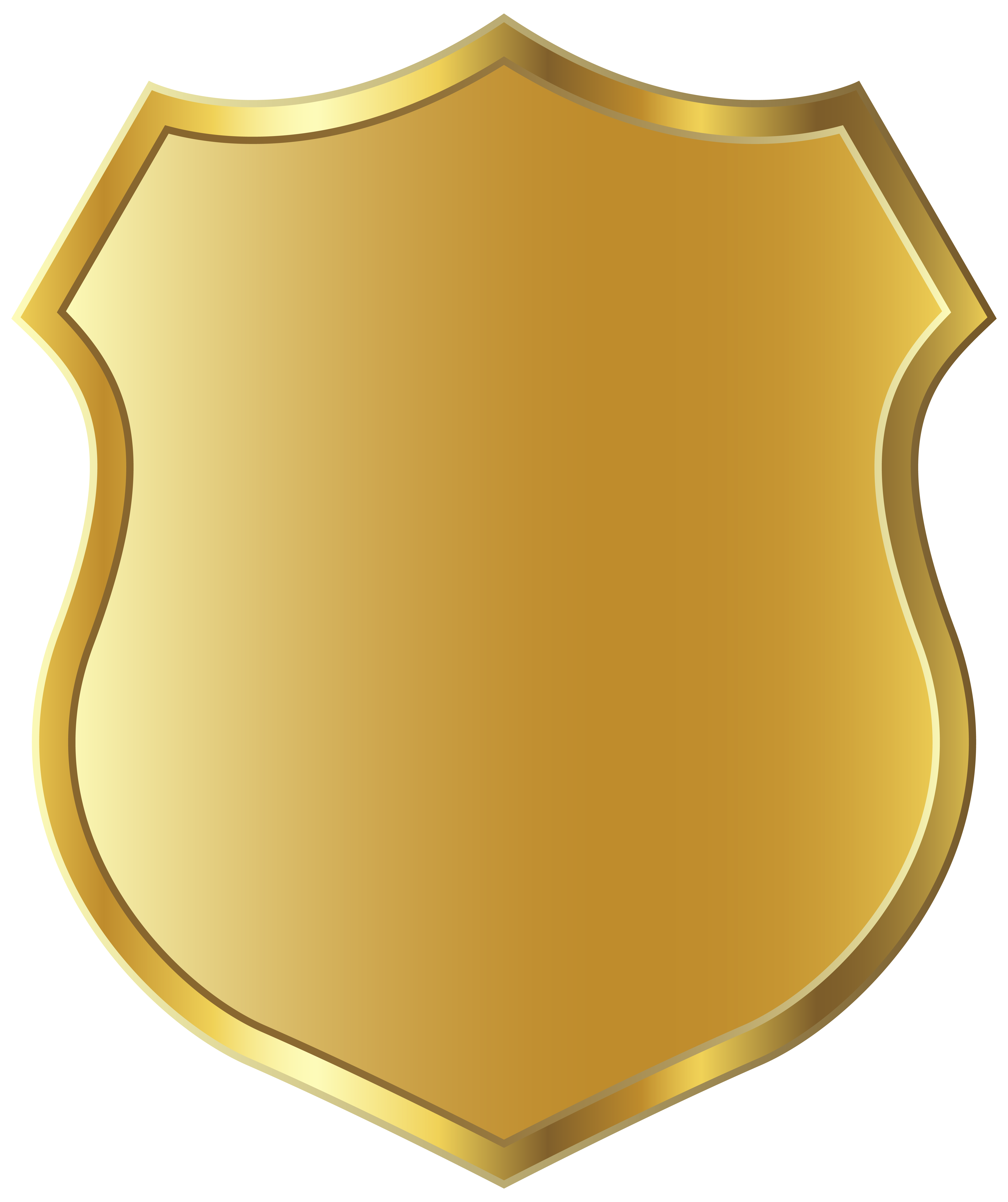 Clipart shield grunge. Golden badge template png