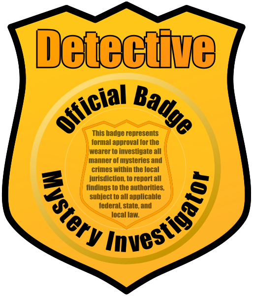 Badge clipart detective. Panda free images badgeclipart