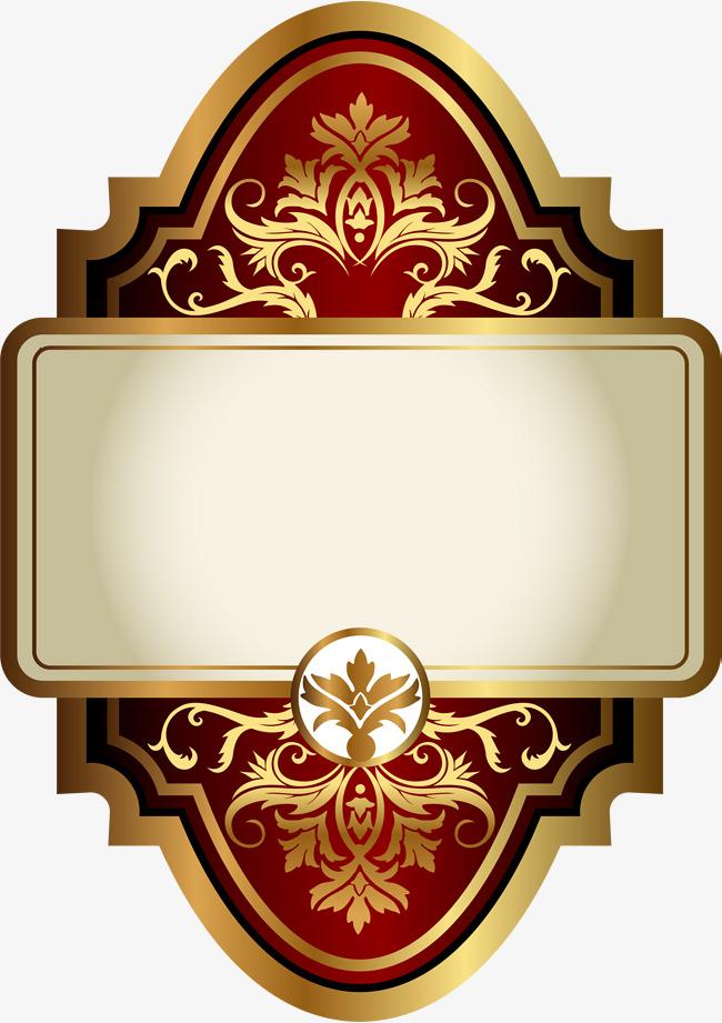 Golden plant atmospheric sign. Badge clipart emblem