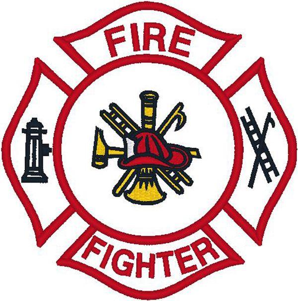 Badge clipart emblem. Firefighter logo clip art