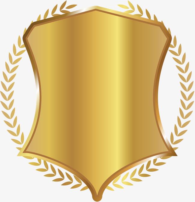 Golden plant botany png. Badge clipart emblem