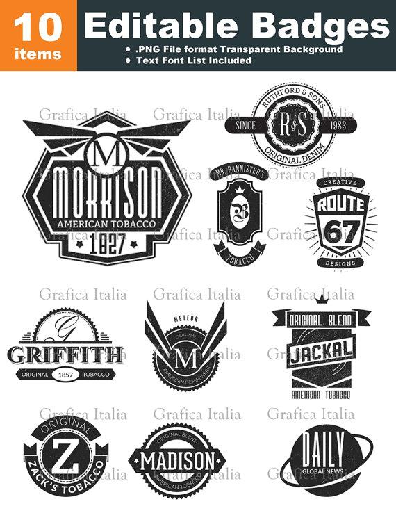 Retro blank logo templates. Badge clipart emblem