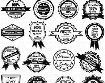 Badge clipart emblem. Vintage label frame labelclip