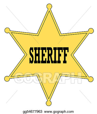 Badge clipart fancy. Drawing gold star sheriff