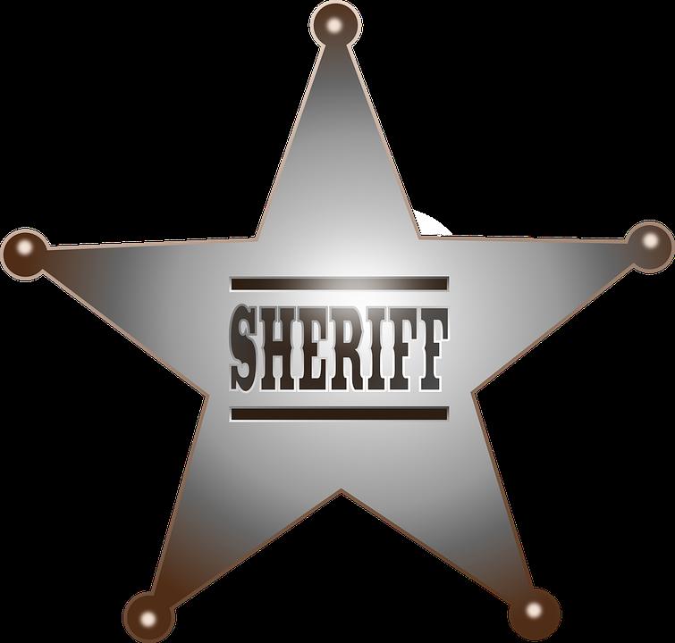 Sheriff star best wild. Badge clipart fancy