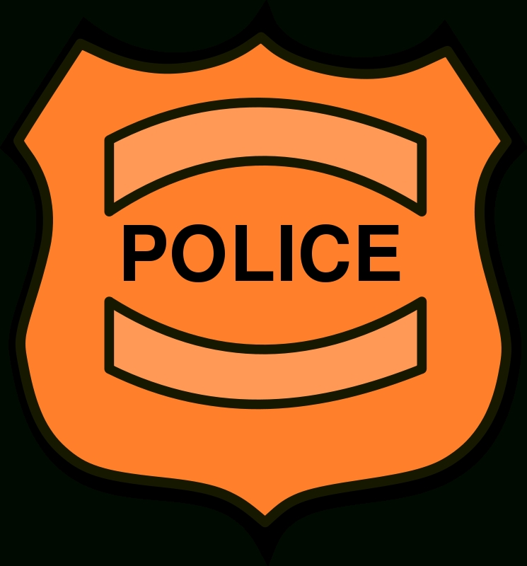 Policeman kind of letters. Badge clipart fancy