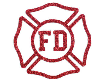 Iron on etsy design. Badge clipart fireman