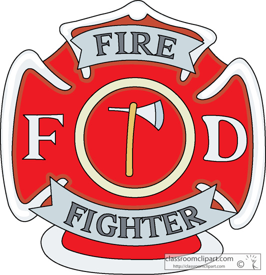 Firefighter . Badge clipart fireman