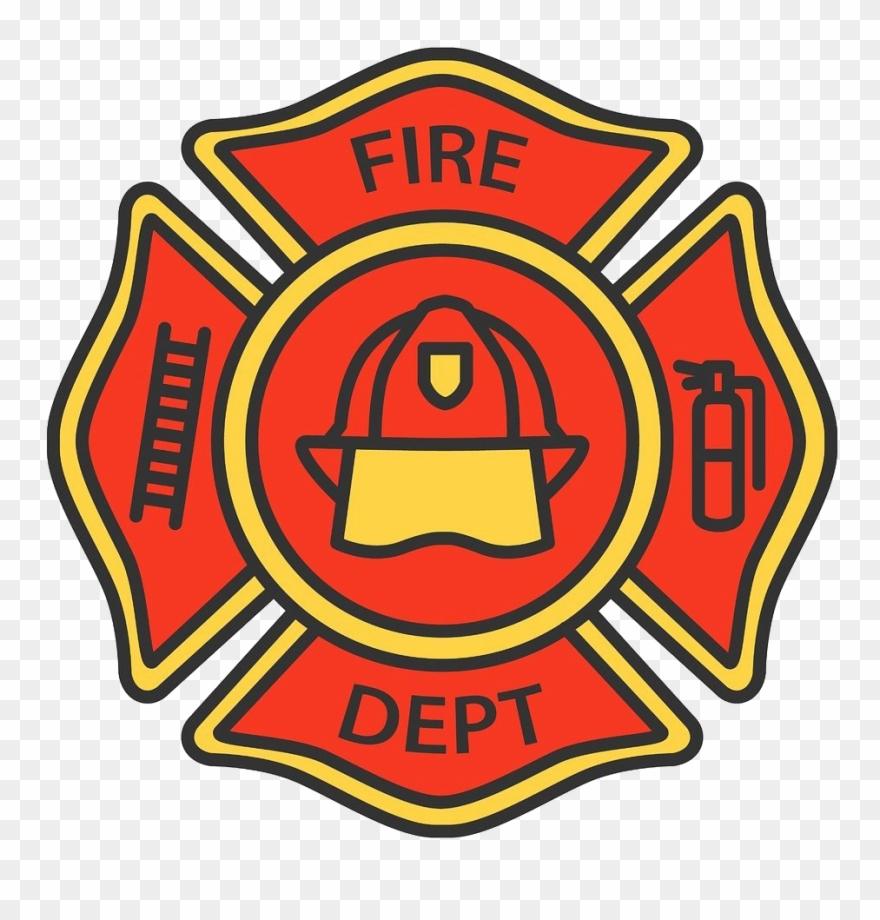 Firefighter clipart emblem. Badge png picture fireman