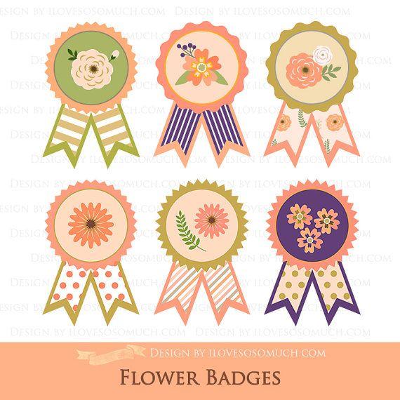 Badge clipart flower. Big sale badges clip
