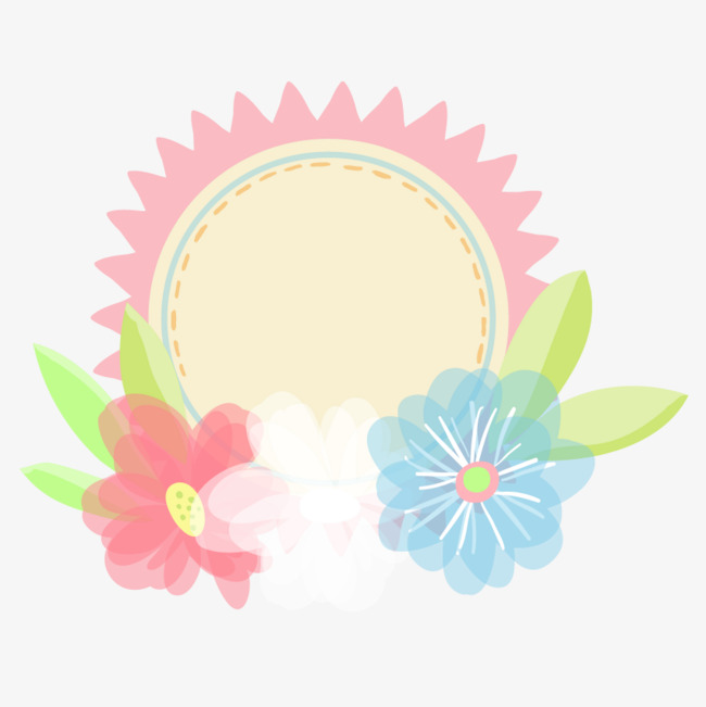 Hand painted flowers lovely. Badge clipart flower
