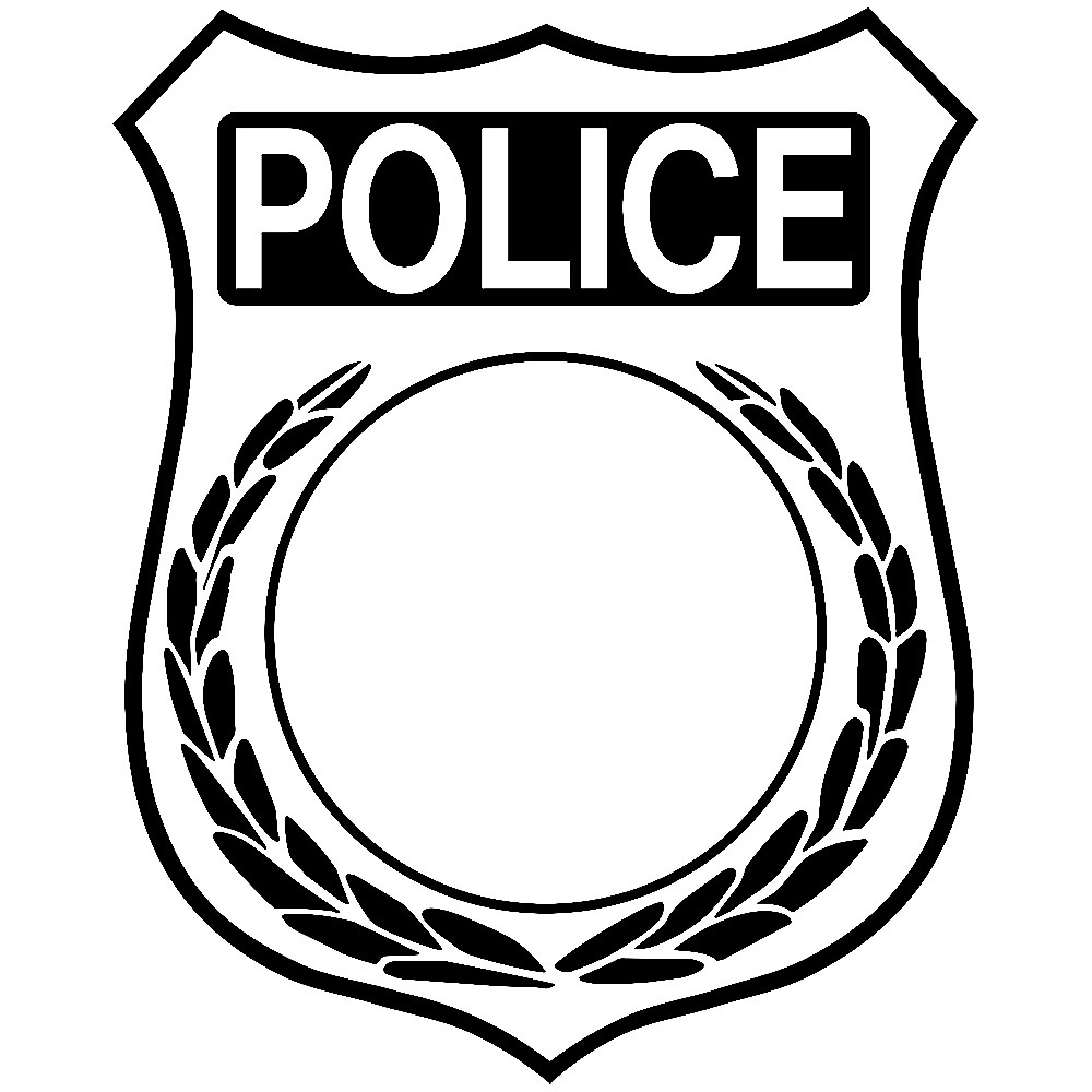 Beautiful of police black. Badge clipart flower