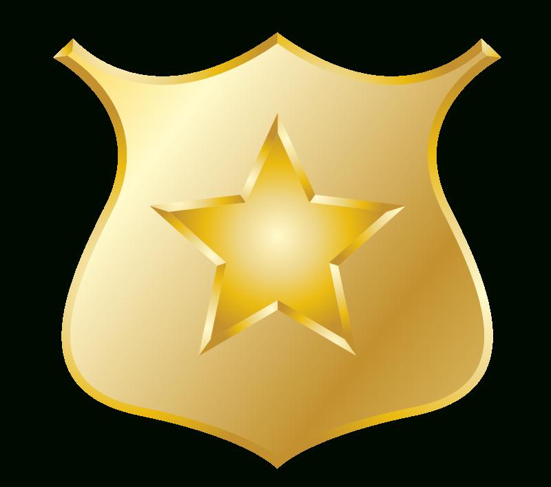 Luxury of police star. Badge clipart flower