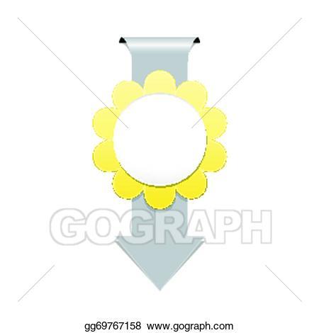 Eps illustration the arrow. Badge clipart flower