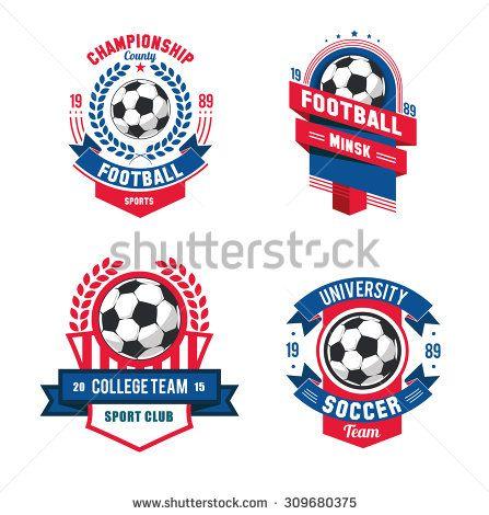 Badge clipart football. Vector set badges logos