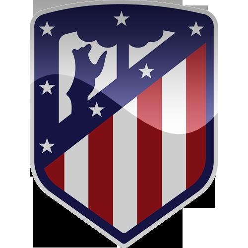 Badge clipart football. Club atletico de madrid