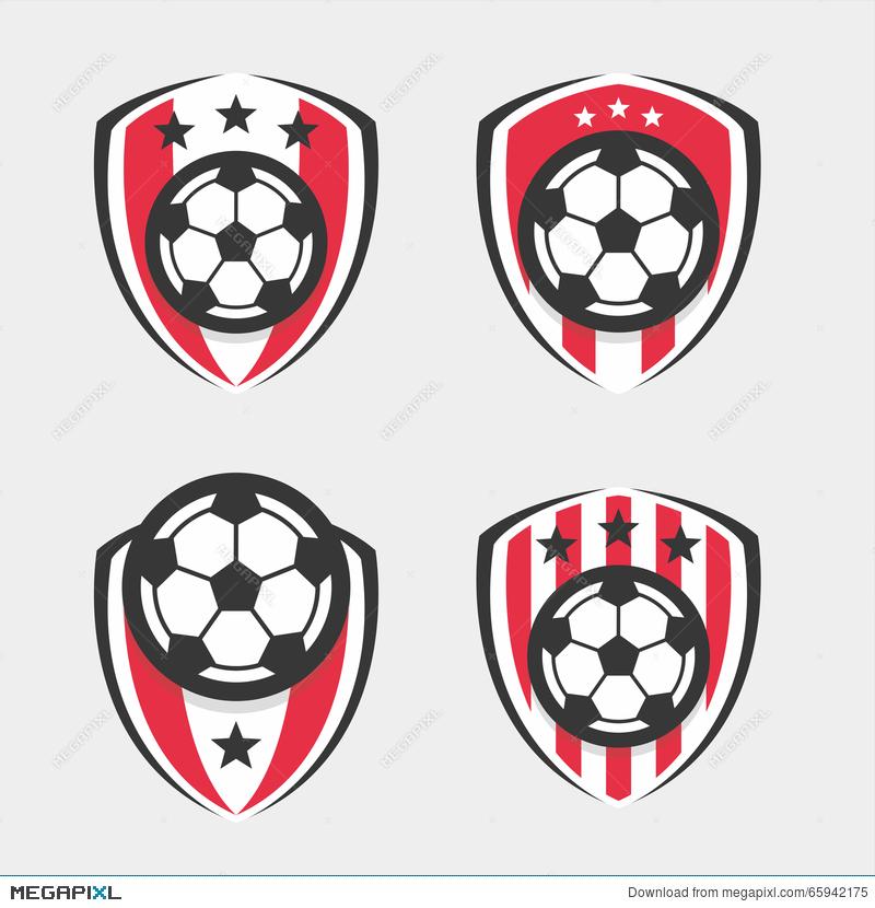 Soccer logo or club. Badge clipart football