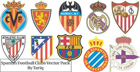 Badge clipart football. Free spanish club logos