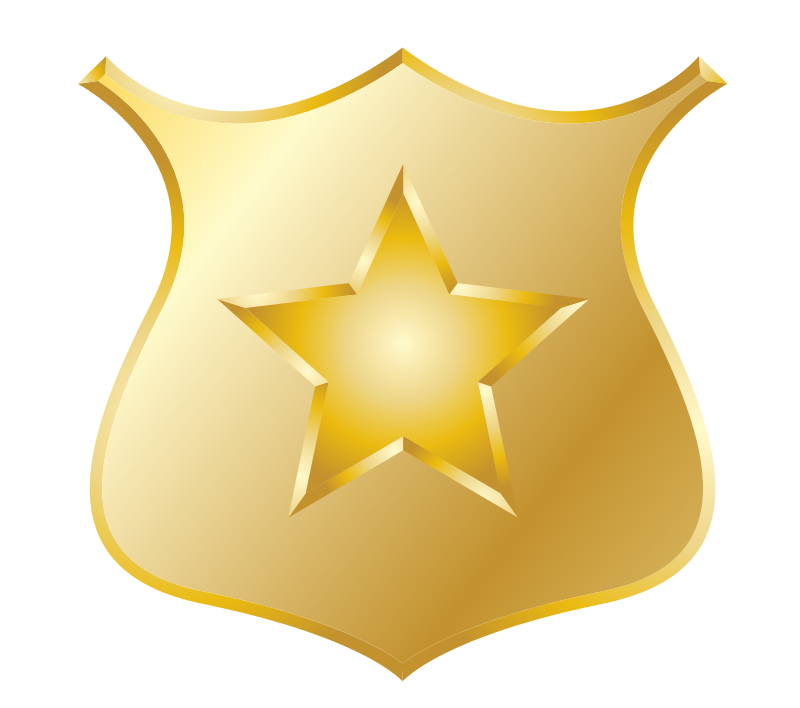 . Badge clipart gold