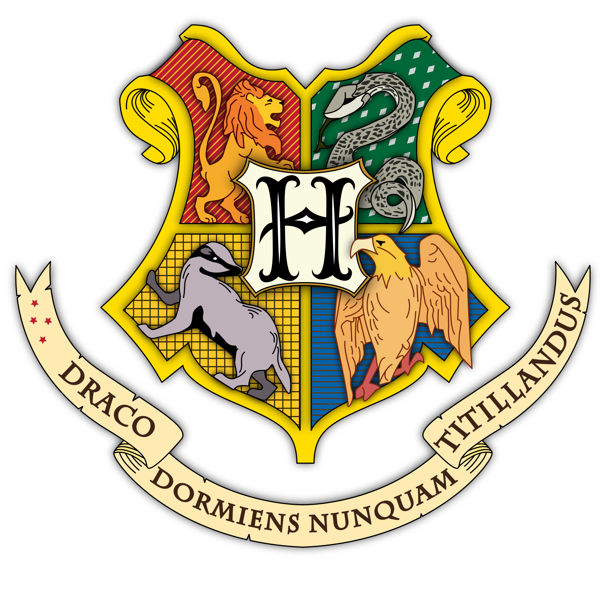 The coat of arms. Badge clipart gryffindor
