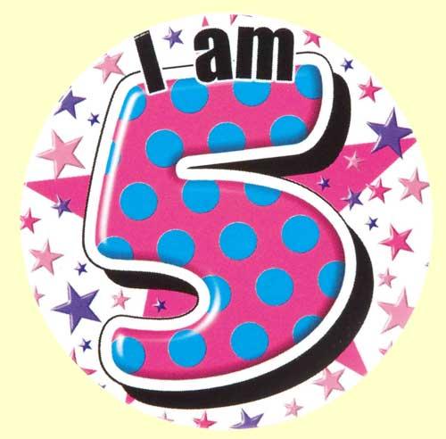 th pink party. Badge clipart happy birthday