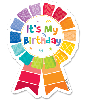 Creative teaching press painted. Badge clipart happy birthday