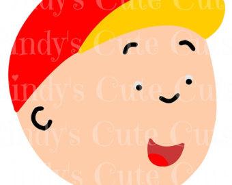 Badge clipart head boy. Etsy caillou cuttable dxf