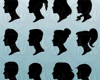 Badge clipart head boy. Etsy profile silhouettes men