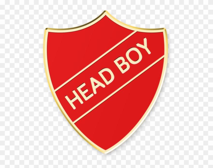 Shield prefect red . Badge clipart head boy