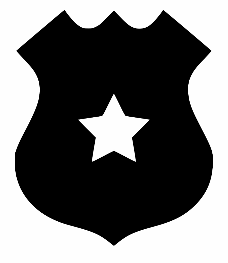 Police outline png svg. Badge clipart icon