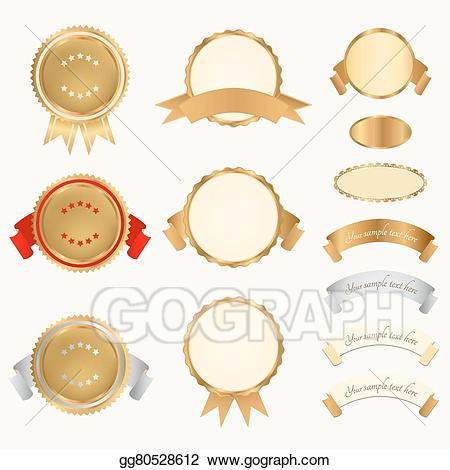Vector stock awards illustration. Badge clipart insignia