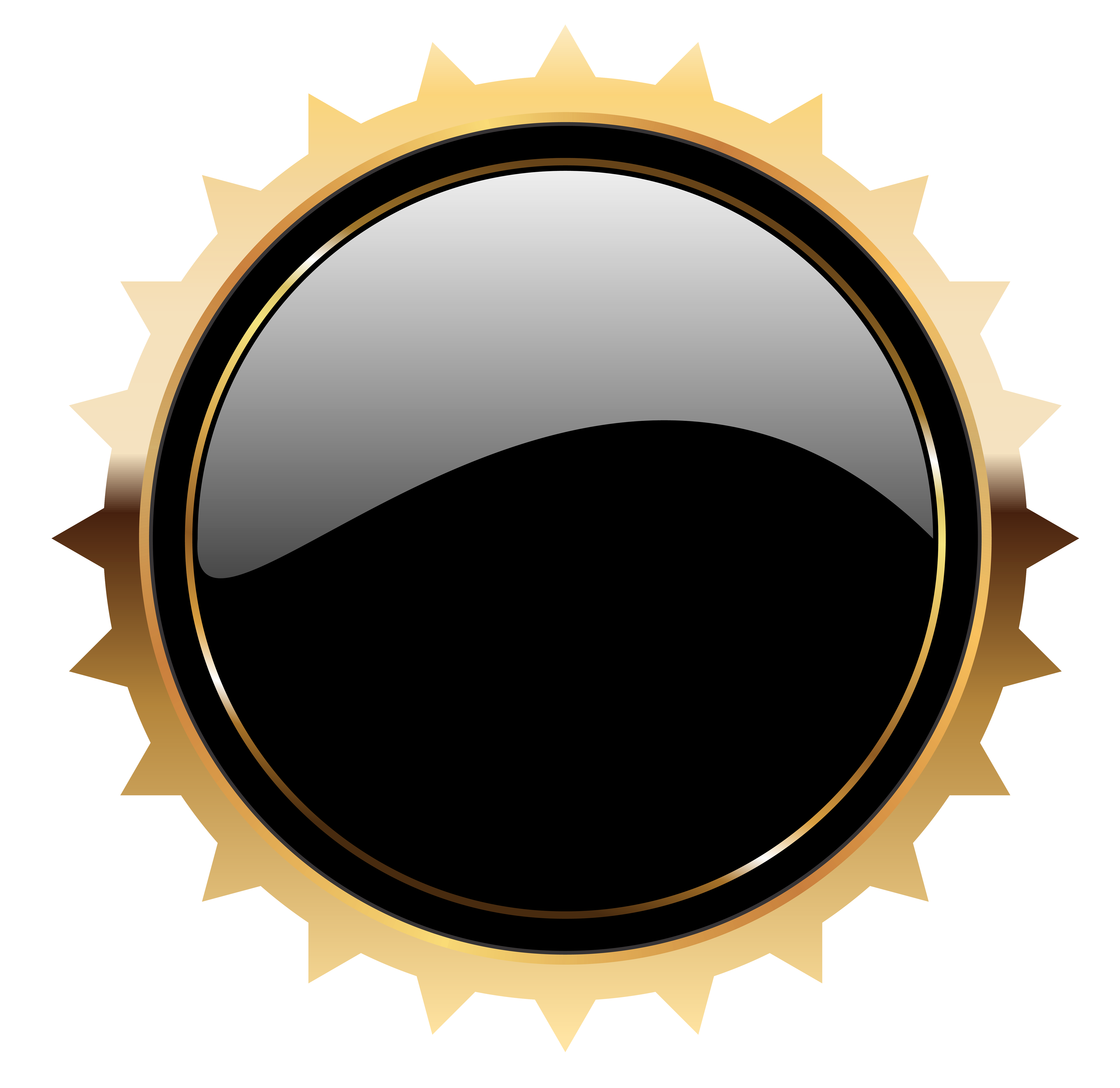 Black badge template png. Seal clipart happy