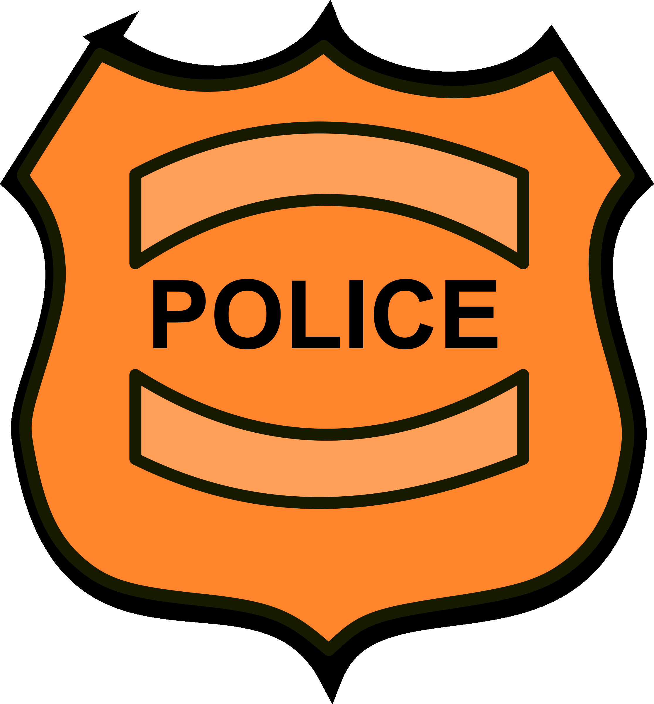 Resize police rescuedesk me. Badge clipart logo
