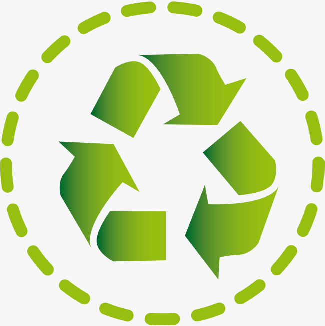 Badge clipart logo. Green recycling sign png