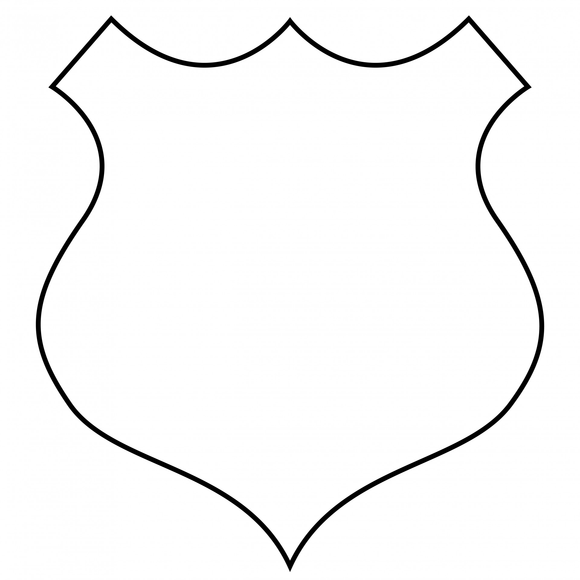 Badge clipart outline. Shield free stock photo