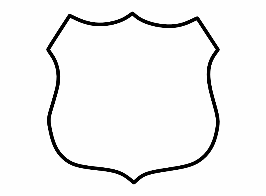 Badge clipart outline. Police png free images