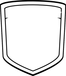 Badge clipart plain. Blank shield soccer clip