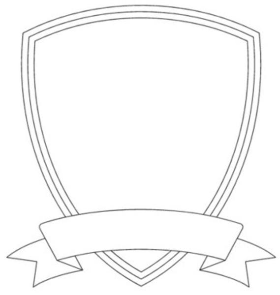 Blank template incep imagine. Badge clipart plain