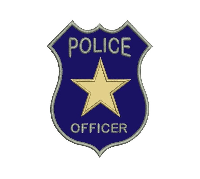 Badge clipart police officer. Printable cop pencil and